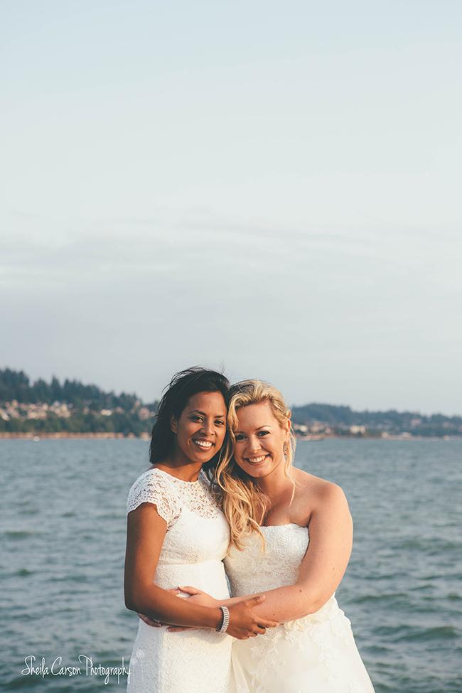squalicum boathouse wedding | bellingham wedding photographer | bellingham same sex wedding